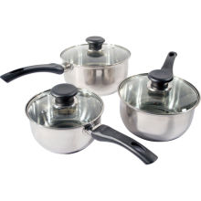 Amazon Vendor 3PC Stainless Steel Cookware Saucepan Set Kitchen Cook