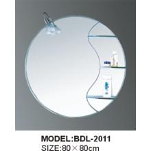 Miroir de salle de bains en verre argenté d'épaisseur de 5mm (BDL-2011)
