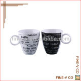 ceramic decal coffee cup