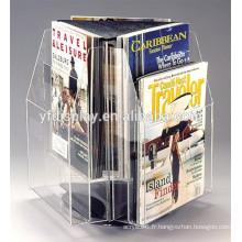2015 fashional rotation porte-brochure acrylique pour l'affichage de la publicité