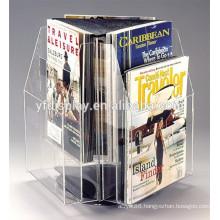 2015 fashional rotating acrylic brochure holder for advertising display