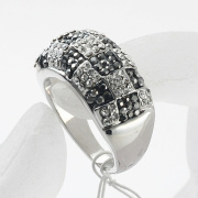 Fashion Jewellery Pretty Colorful Rhinestone Rings rhodium and gold plated alloy finger rings