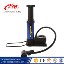 the newest style salable long hose mini floor pump for bike /best price mini bike pump /seamless steel mini foot pump