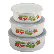 Enamel Storage Bowl 3PCS Set 10/12/14cm 200 D