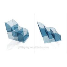 Support acrylique d'affichage de CD bleu pour la boutique
