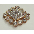 Diamond Gold Tone Metal Shoe Clips