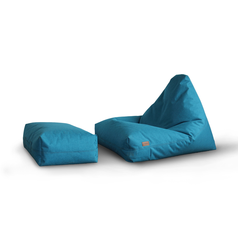 Bean Bag Sofa Sets Triangle Waterproof Bean Bag With Stool Leisure