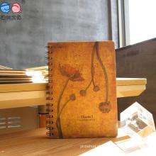 Custom Printing Vintage Hardcover Spiral Notebooks (XLX3296-X03)