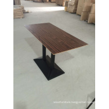 Classic Walnut Color Food Court Dining Table (FOH-CXSC67)