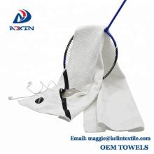 China factory custom microfiber zipper sports gym towel with pocket