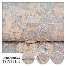 Chine tissu de broderie de ruban de polyester en gros