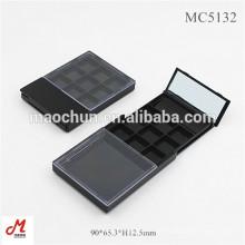 MC5132 Plastik leer ziehen Push öffnen / schließen Slip 9 Pan Lidschatten Palette