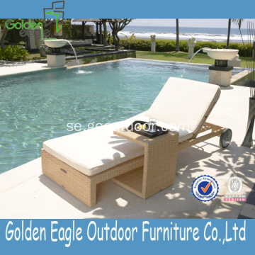 Hot Sale Sun Lounger med sidobord