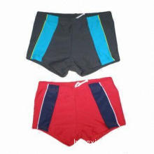Boys' Swim Trunks with Adjustable Waist, Different Color Piece on Both Side, Highly Elastic