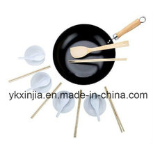 Kitchenware Carbon Steel Non-Stick Wok Cookware