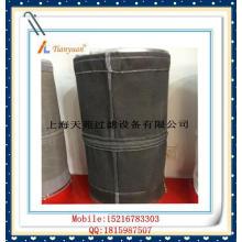 Bolso de filtro de fibra de vidrio no alquitrán de carbono negro con E-PTFE