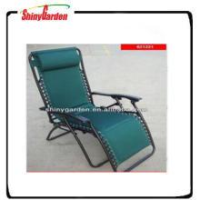chaise longue de plage inclinable