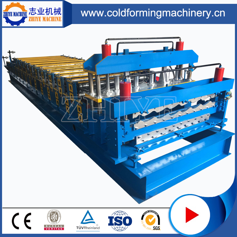 1100MM Glazing Tile Cold Rolling Forming Line