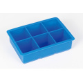 Silicone populaire 6 cavités Ice Cube Tray Moule
