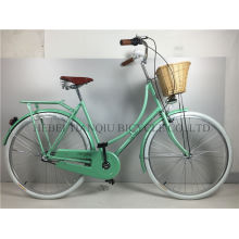 Green Colorful 28 Inch Coaster Brake Dutch Bike