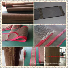 100% veik PTFE non stick ptfe mesh belt fiber glass fabric