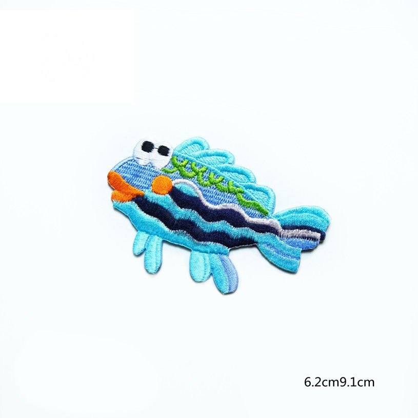 Fish Cloth Embroidery Patches