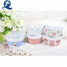 Kinds Of Christmas Theme Pattern Festival Decoration Ceramic Soup Bowl
