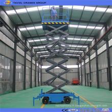 Table élévatrice hydraulique manuelle mobile à ciseaux Sjy0.3-6