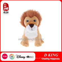 Sessão de pelúcia macia brinquedo leão bichos de pelúcia
