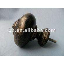 Финишная отделка шторок из смолы, стержень для занавеса черного золота, D16 / 19мм