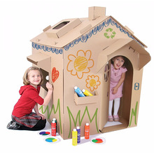 Factory Wholesale Easy Assembled Eco-friendly Paper House For Kids
