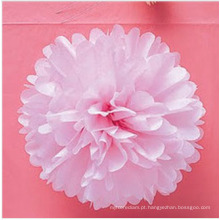 Venda quente papel colorido POM Poms para decoração de festa