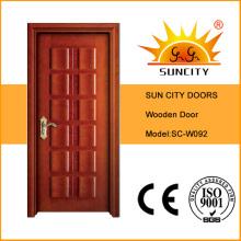 Wood Panel Laminated Bread Design Wood Door (SC-W092)