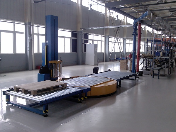 Fully Automatic Rotary Turntable Stretch Wrapping Line