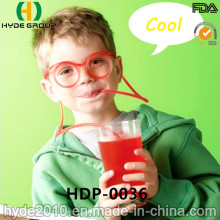 Funny Plastic Gasses Drinking Straw for Juice (HDP-0036)