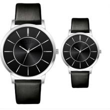 YXL-705 Quartz Movt Couple montres avec bracelet en cuir japonais Movt Geunine