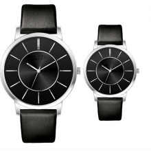 Yxl-705 Quartz Movt Couple Watches with Japanese Movt Geunine Leather Band