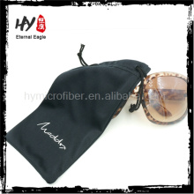 Chine fournisseur étui souple de lunettes, pochette de lunettes de soleil microfibre, poche en tissu de len