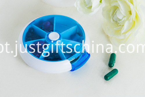 Promotional Plastic 7-Day Rotate Pill Box