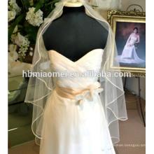El nuevo velo de novia de la boda Suzhou al por mayor de estilo coreano - accesorios de novia nupcial recortada de oro boda velo