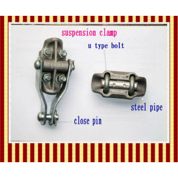 Overhead cable clamp for ADSS tower use outdoor power line ACSR hanging aluminium alloy OPGW suspension cable clamp
