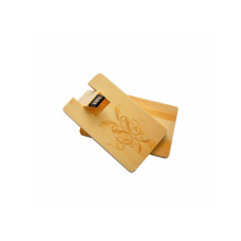 Environmental Swivel USB Wood Card USB Flash Drive