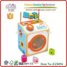 Pretend Toys Hölzerne Waschmaschine Spielzeug