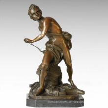 Soldaten Figur Statue männlich David Bronze Skulptur TPE-341
