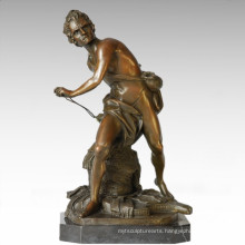 Soldiers Figure Statue Male David Bronze Sculpture TPE-341