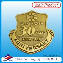 30o Aniversario Promoción Esmalte Badge Metal Oro Ejército Pin Badge Medalla Hacemos Custom Embossed Metallogo Badges Pin Medalla de fábrica (LZY201300280)