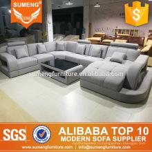 гостиная ткань диван диван мебель U-образный дизайн диван набор