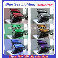 Super 72pcs 18w 6 in 1 rgbwauv ip65 dmx led light outdoor
