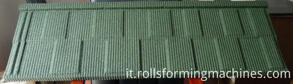 Shingle type for Steel Stone Roofing Tiles Making Machine