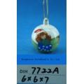 Decoração da Árvore de Natal Bauble de urso de cerâmica pintado à mão